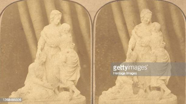 Pair of Early Stereograph Views of British Statues, 1850s-1910s. Artist John Browning, Francis Godolphin Osbourne Stuart.