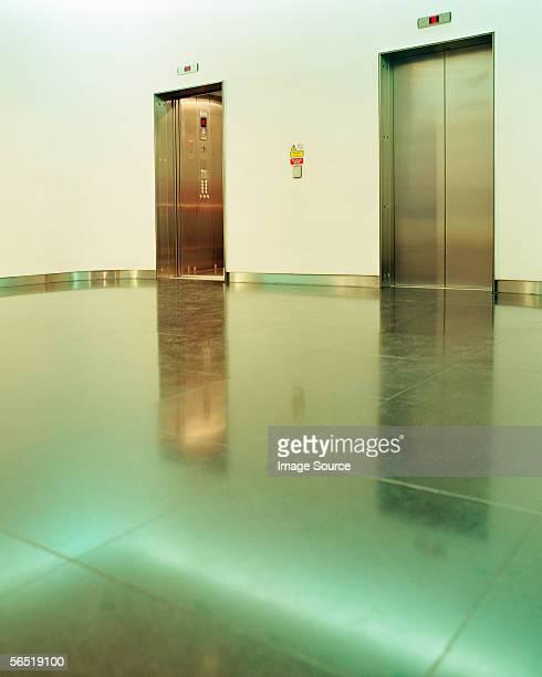 Pair of elevators