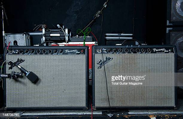 A pair of Fender Prosonic electric guitar amplifiers used by English guitarist and Songwriter Andy Powell best know as one of the founding members of...