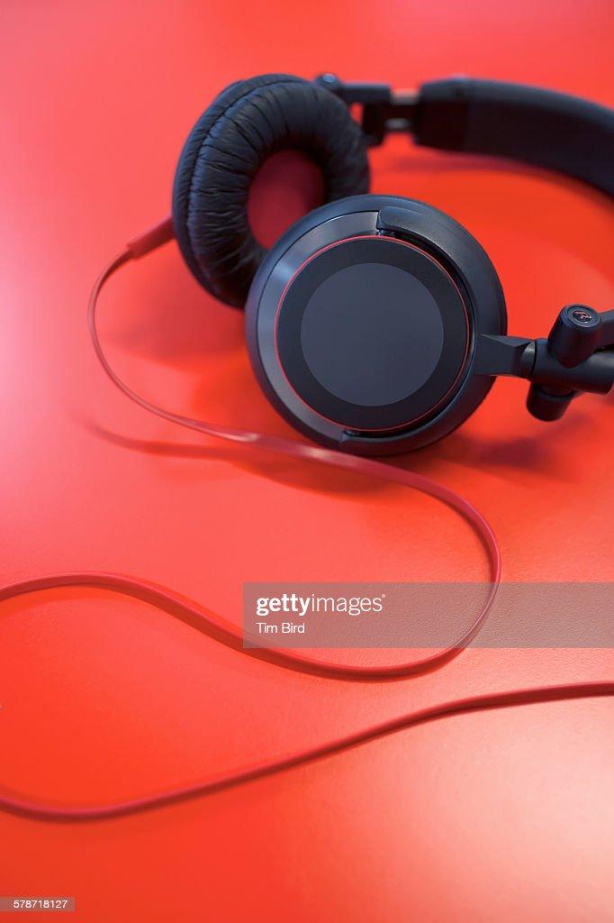 Pair of headphones : Stock Photo