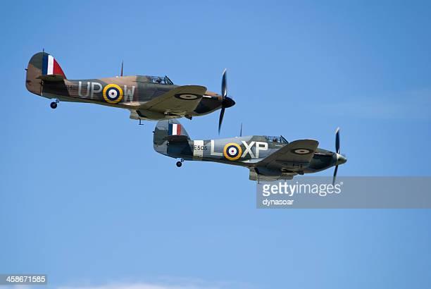 Pair of Hurricane World War 2 fighter aircraft