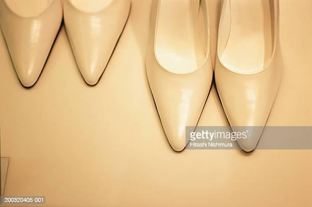 Pair of ladies shoes, elevated view