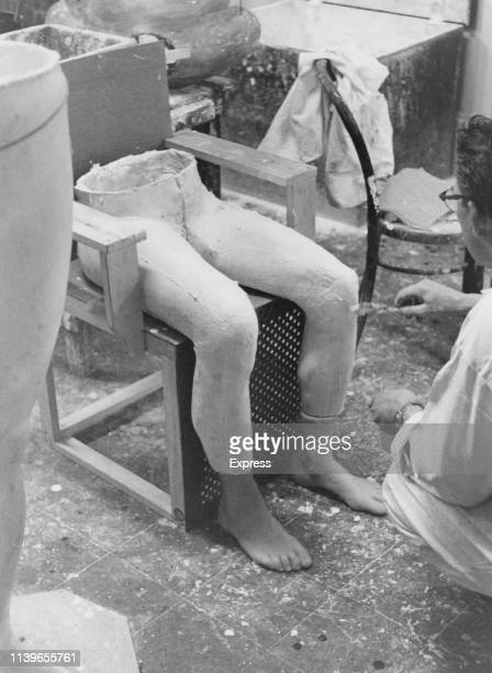 A pair of legs and feet for the waxwork of Caryl Chessman in the workshop of Madame Tussauds in London circa 1960 Chessman was executed in the gas...