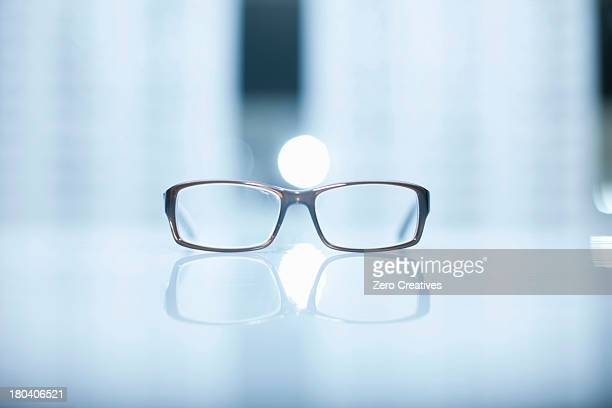 A pair of lone eyeglasses