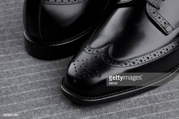 Pair of mens black shoes