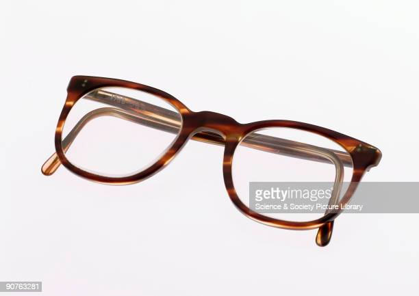 b86ae1e227 A pair of NHS spectacles with imitation tortoiseshell frames made from  brown plastic When the National