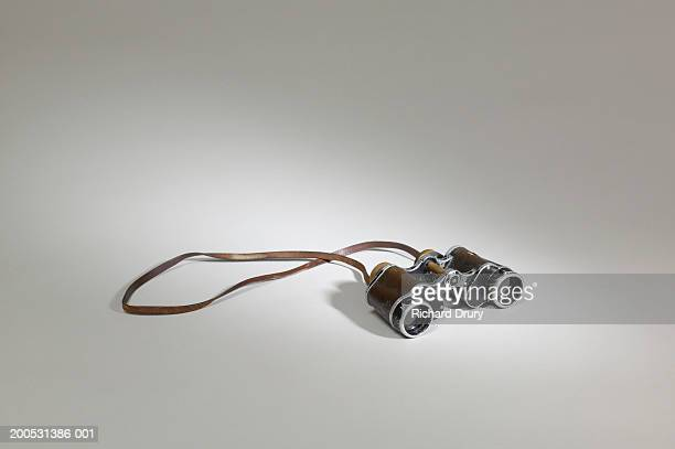 pair of old fashioned binoculars - richard drury stock pictures, royalty-free photos & images