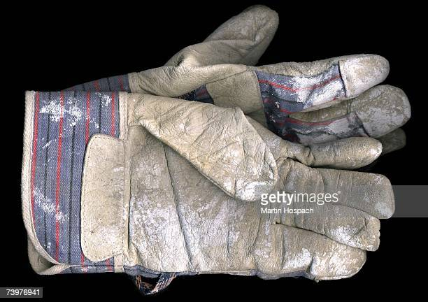 pair of old work gloves - work glove stock photos and pictures