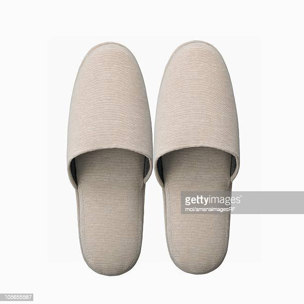 A Pair of Plain White Slippers