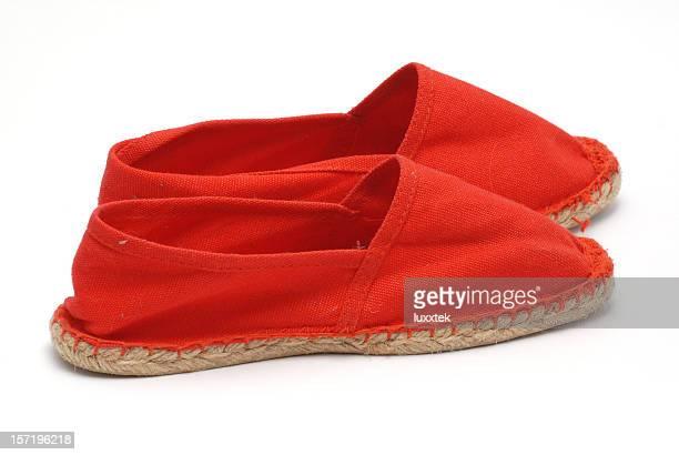 Paire de chaussures rouges Espadrille