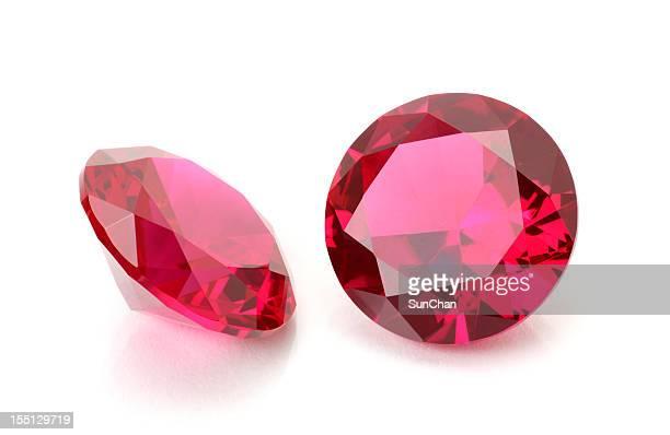 Pair of Round Ruby