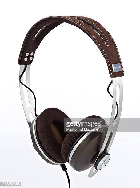 A pair of Sennheiser Momentum headphones photographed on a white background taken on November 1 2013