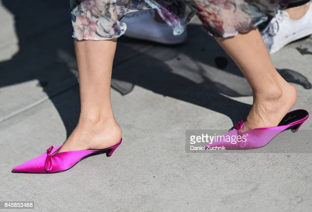 A pair of shoes are seen outside the 31 Phillip Lim show during New York Fashion Week Women's S/S 2018 on September 11 2017 in New York City