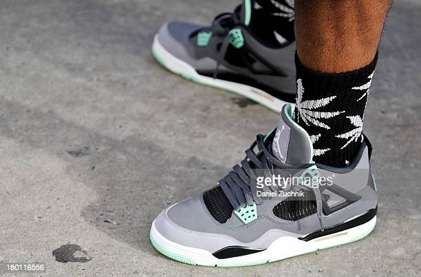A pair of sneakers outside the Y3 show on September 8 2013 in New York City