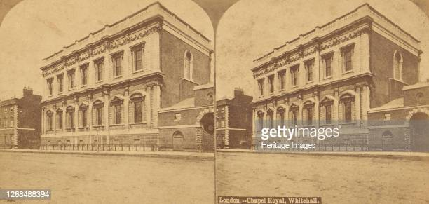 Pair of Stereograph Views of Chapel Royal, London, 1850s-1910s. . Artist Unknown.
