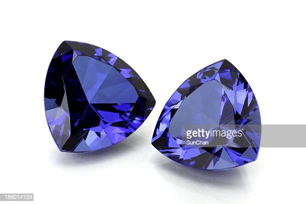 Pair of Tanzanite or Sapphire