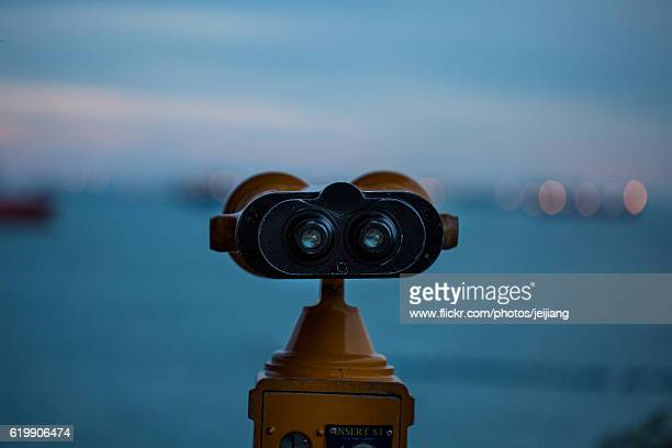 A Pair of Tower Viewer for Looking at the Sea on Sentosa Island