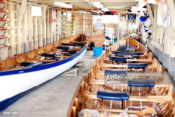 Paar von traditionellen Cornish pilot gig Boote