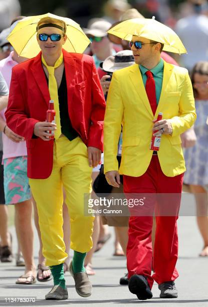 A pair of well dressed fans during the third round of the 2019 Arnold Palmer Invitational presented by MasterCard at the Arnold Palmer Bay Hill Club...