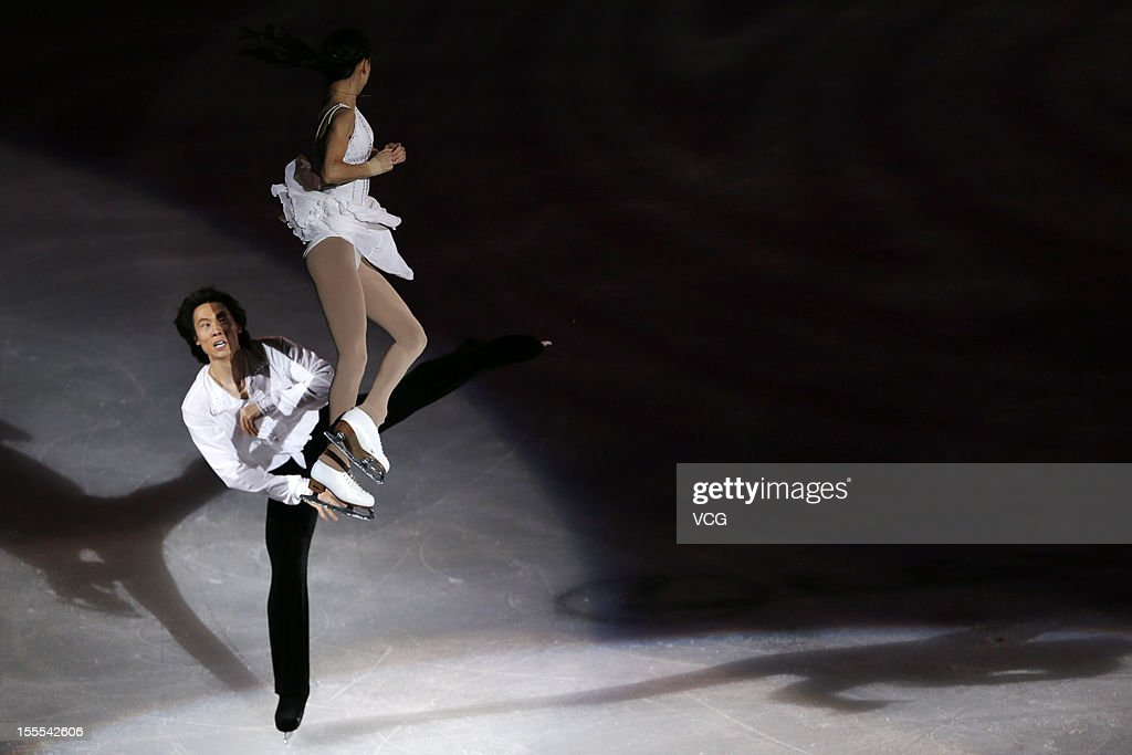 Pairs gold medalists Qing Pang and Jian Tong of China perform during the Cup of China ISU Grand Prix of Figure Skating 2012 at the Oriental Sports Center on November 4, 2012 in Shanghai, China.