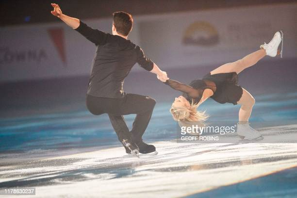 Pairs silver medalists Kirsten Moore-Towers and Michael Marinaro of Canada perform during the exhibition gala at the 2019 Skate Canada International...