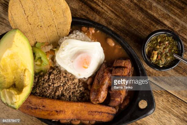 paisa bandeja traditional Colombian food