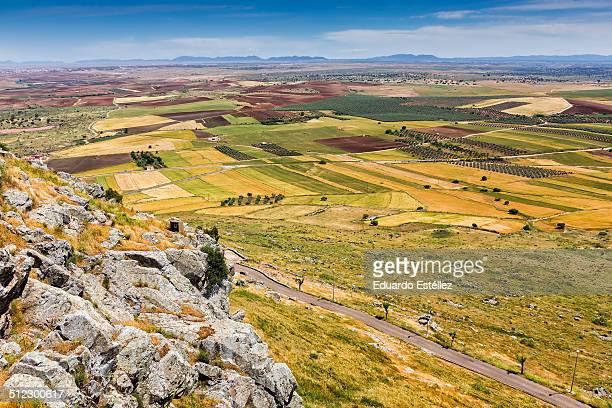 paisaje desde magacela - estremadura stock-fotos und bilder