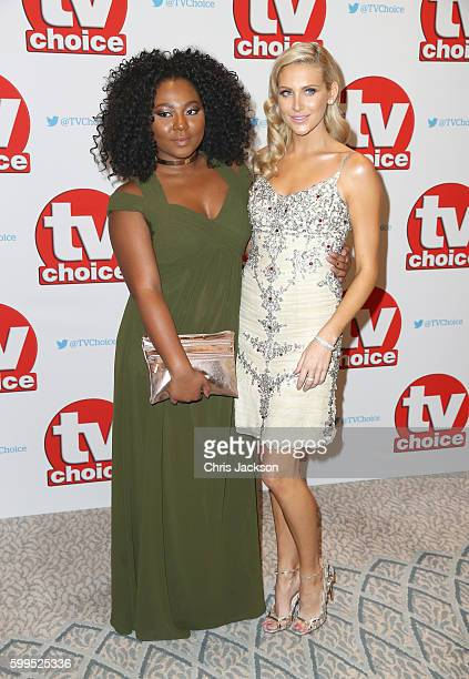 Paisley Billings and Stephanie Pratt arrive for the TV Choice Awards at The Dorchester on September 5 2016 in London England