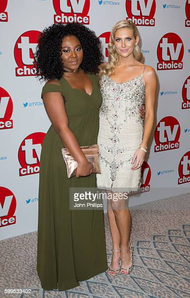 Paisley Billings and Stephanie Pratt arrive for the TV Choice Awards at The Dorchester Hotel on September 5 2016 in London England