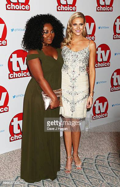 Paisley Billings and Stephanie Pratt arrive for the TVChoice Awards at The Dorchester on September 5 2016 in London England