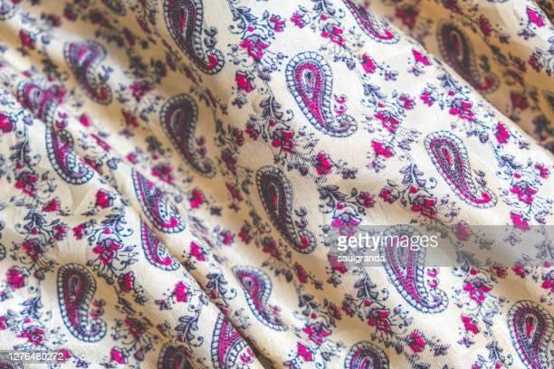 paisley design silk full frame - ペーズリー ストックフォトと画像