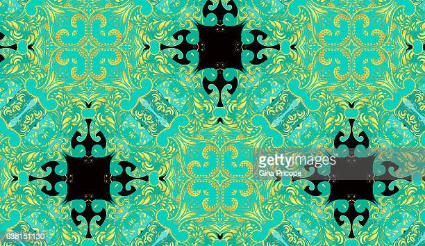 Paisley kaleidoscope pattern.