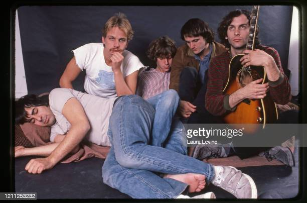 Paisley Underground rock group Rain parade Eddie Kalwa , Will Glenn , Steven Roback , David Roback and Matt Piucci pose for a portrait in 1983 in New...