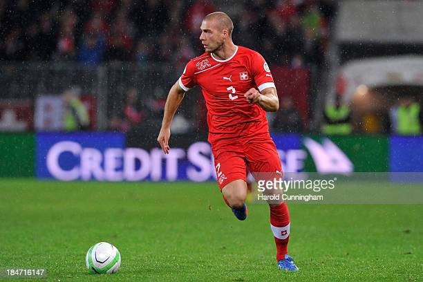 Pajtim Kasami of Switzerland in action during the FIFA 2014 World Cup Qualifier match between Switzerland and Slovenia match held at Stade de Suisse...