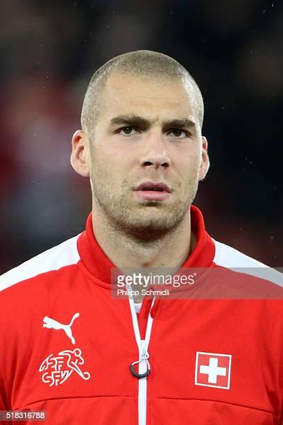 Pajtim Kasami of Switzerland looks on prior to the international friendly match between Switzerland and BosniaHerzegovina at Stadium Letzigrund on...
