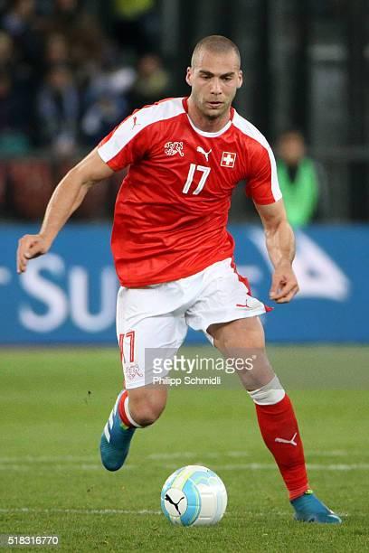 Pajtim Kasami of Switzerland runs with the ball during the international friendly match between Switzerland and BosniaHerzegovina at Stadium...
