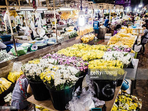 Pak Khlong Talat flower market Bangkok Thailand