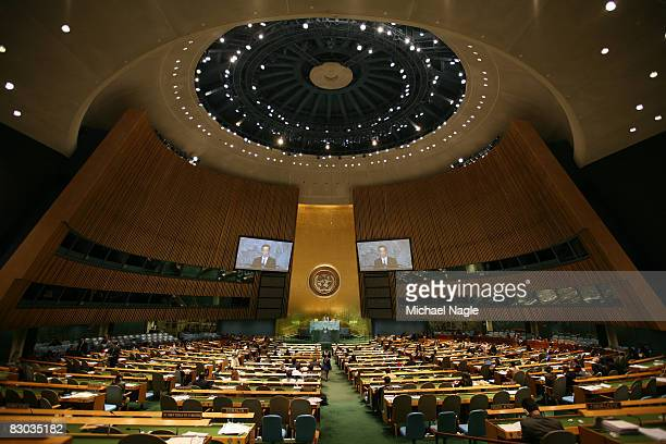 Pak Kil Yon, North Korea's Vice-Minister of Foreign Affairs, speaks at the United Nations General Assembly on September 27, 2008 in New York City....