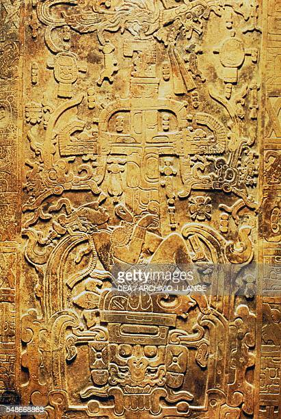 Pakal's sarcophagus lid found in the Temple of the Inscriptions in Palenque Mayan civilisation 7th8th century Mexico City Museo Nacional De...