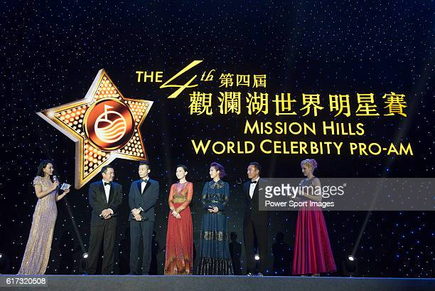 Pakho Chau Charmaine Sheh Miriam Yeung during the Opening Ceremony of the the World Celebrity ProAm 2016 Mission Hills China Golf Tournament on 20...