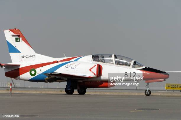 Pakistan AirForce Nanchang K8 Karakorum taxiing at the Dubai AirShow 2007