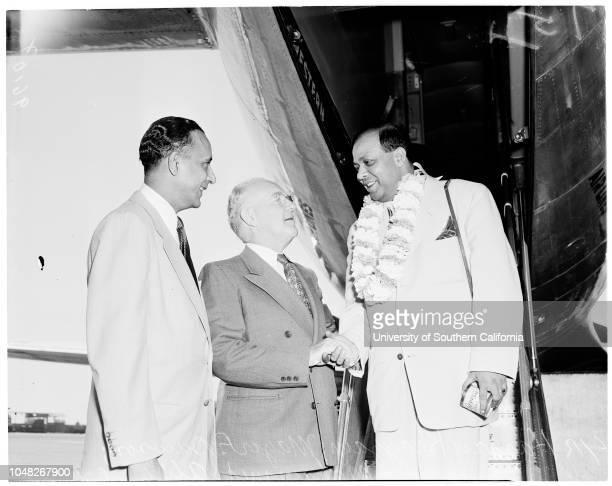 Pakistan ambassador 17 June 1952 Mohammed Ali Begum Mohammed Ali Hassan Khayyam Caption slip reads 'Photographer Miller Date Reporter Adler...