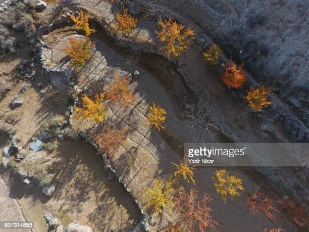 Pakistan - An aerial view of Nagar Valley, Gilgit Baltistan