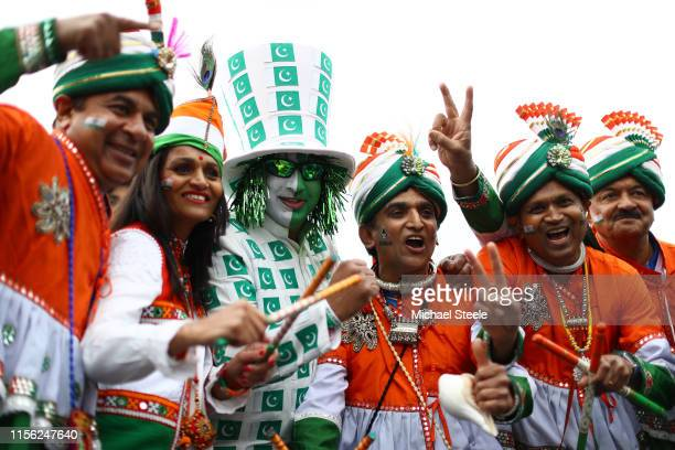 Pakistan and India supporters during the Group Stage match of the ICC Cricket World Cup 2019 between India and Pakistan at Old Trafford on June 16...