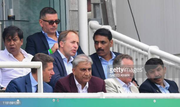 Pakistan Army Chief General Qamar Javed Bajwa looks on during the 2019 Cricket World Cup group stage match between Pakistan and South Africa at...