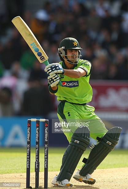 Pakistan batsman Fawad Alam picks up some runs during the 2nd NatWest ODI match between England and Pakistan at Headingley Carnegie on September 12...