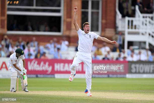 Pakistan batsman Younis Khan survives a confiedent appeal from England bowler Jake Ball during day three of the 1st Investec Test match between...