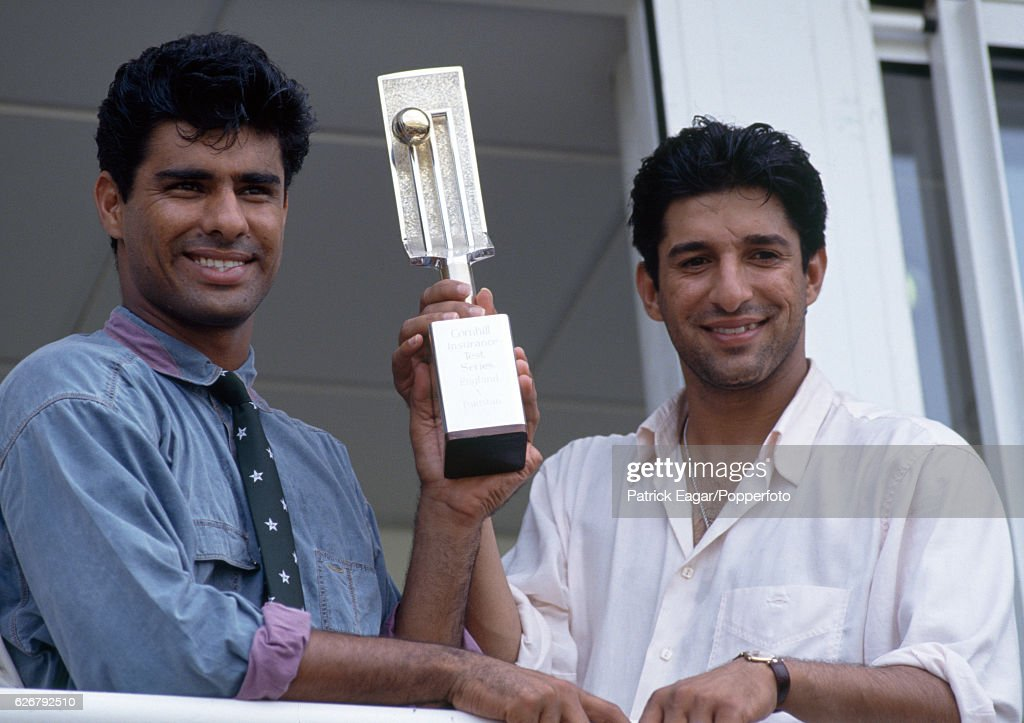 Pakistan bowlers Waqar Younis and Wasim Akram with the ...Waqar Younis And Wasim Akram