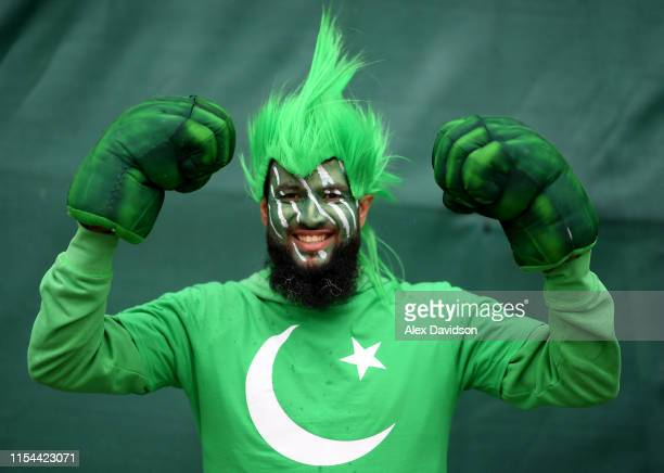 Pakistan fan during the Group Stage match of the ICC Cricket World Cup 2019 between Pakistan and Sri Lanka at Bristol County Ground on June 07 2019...