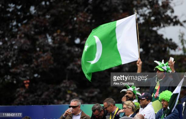 Pakistan fan during the Group Stage match of the ICC Cricket World Cup 2019 between Australia and Pakistan at The County Ground on June 12, 2019 in...